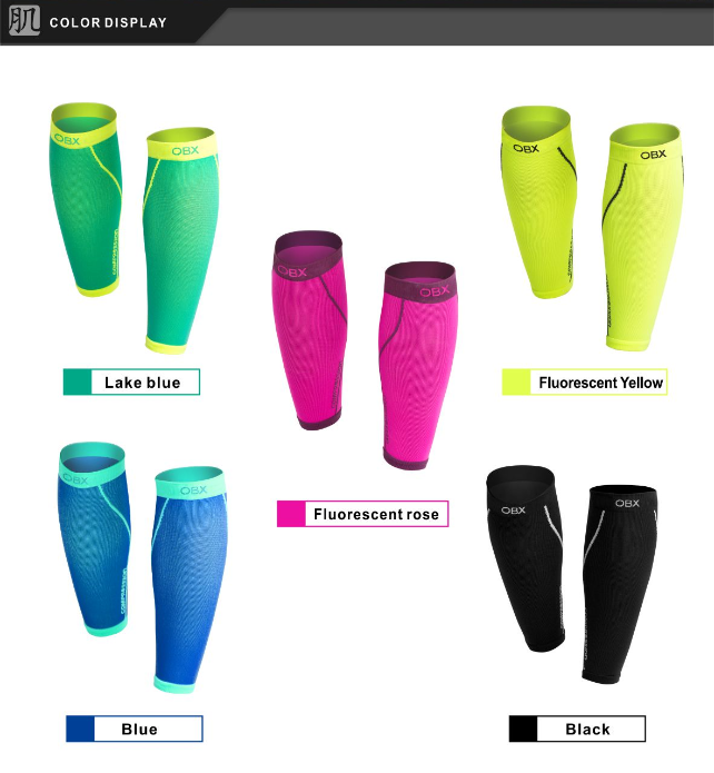 high quality compression leg warmer breathable nylon lycra calf sleeve running hosiery wholesale