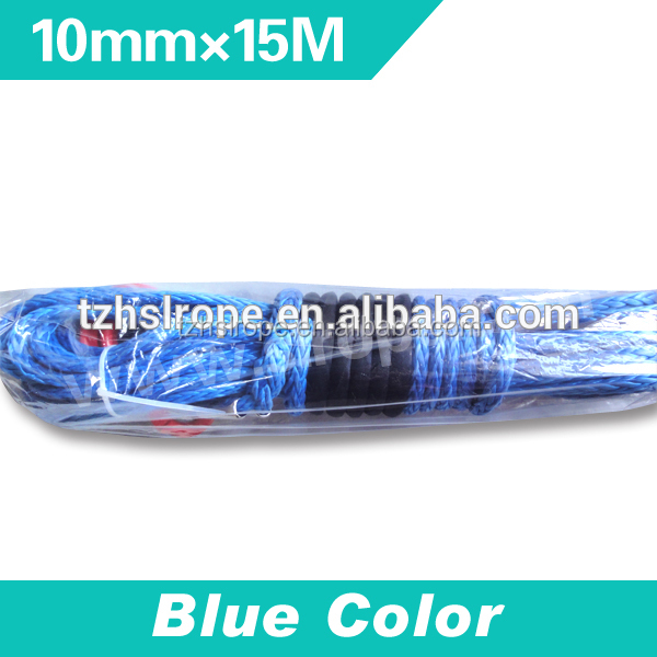 China supplier High quality 10mm synthetic cheap rope for atv