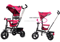Kids stroller with rotating seat and removable canpany