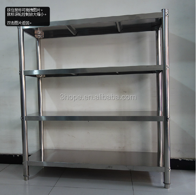 stainless steel shelf adjustable ss rack meat rack,stainless steel hotel restaurant rack 304 anti-rust iron shelf