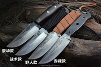Popular army hunting camping tactical pocket knife blanks with block