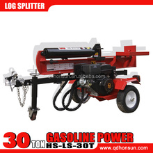 Forestry machinery CE EPA approved electric start B&S and Honda gasoline motor 30 ton wood processor