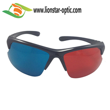 cheap red cyan glasses for 3d film red blue movie, custom logo printed
