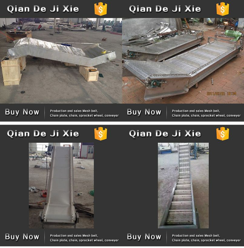Industrial Stainless Steel Chain Plate Belt Conveyer Lifting Conveyor