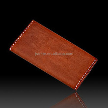 2015 Boutique Men's Long Leather Wallet Cow Suede Leather Check Book Wallet