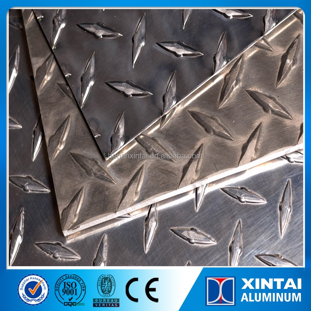 Aluminum Tread Plate of Diamond plate with black color PVDF painting