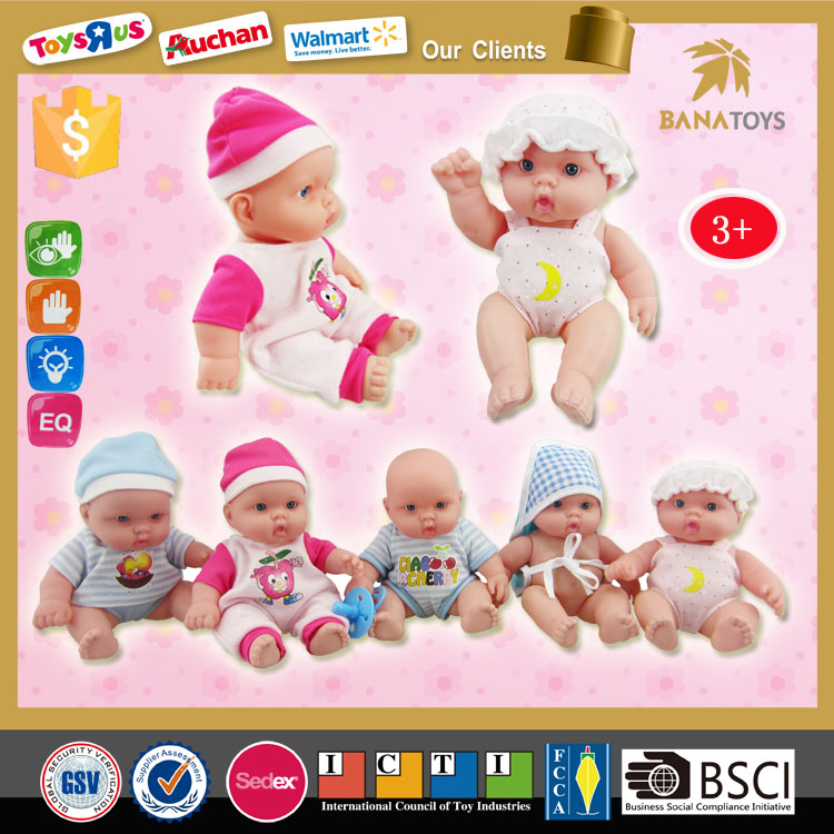 Lovely baby bath toys silicone mini reborn soft silicone baby dolls for sale