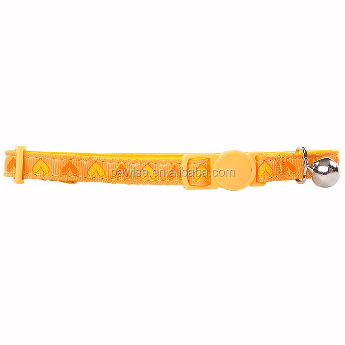 Cat collar - heart,yellow Pet products cat collar