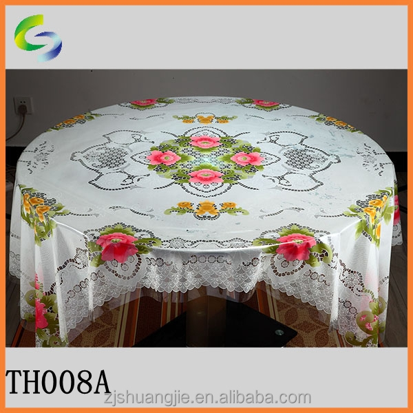China produce thick clear pvc plastic table cloth