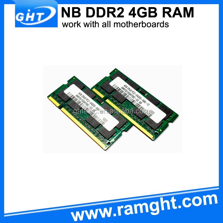 Wholesale computer parts 2x4g ddr2 sdram so dimm 200-pin 8gb