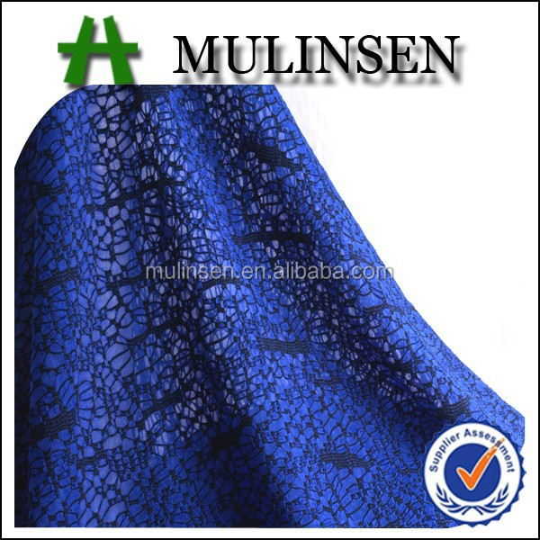 Hot sale in Shaoxing Mulinsen solid dyed with black yarn knitted jacquard polyester
