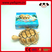 wooden handcraft animal tortoise toy for kids or decoration
