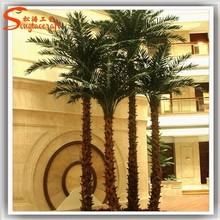 Fake fiberglass trunk make artificial palm outdoor palm trees sale