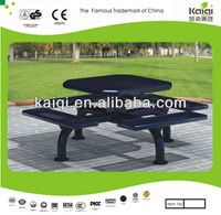 Black PVC polyvinyl chroride coating Superior Quality Picnic Table-Square Iron Table Top
