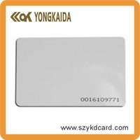 RFID SMART TK4100/EM4100 id card with serial numbers china manufacturer