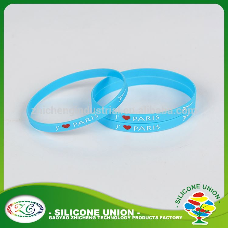 Accepted custom thin silicone bracelet