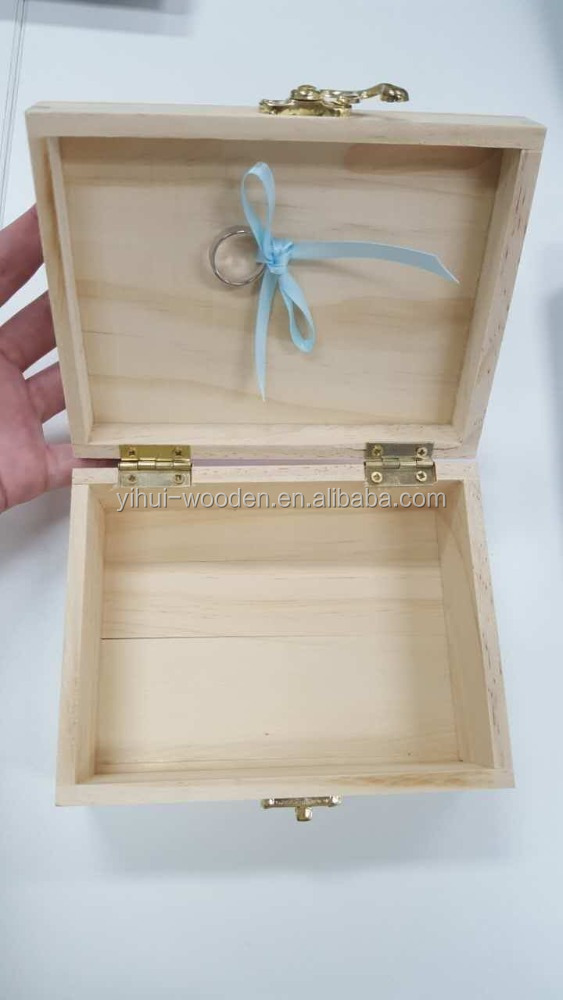 Beautifull Plain Wood Package Box Jewelry Bracelet Ring Wood Box