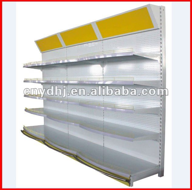 Best Selling! Beautiful Appearance Supermarket Lighted Display Shelves YD-0265
