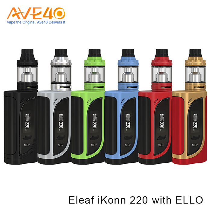 Express Ali Electronic Cigarette Product Eleaf iKonn 220 With Ello Kit Powered By 18650 Batteries