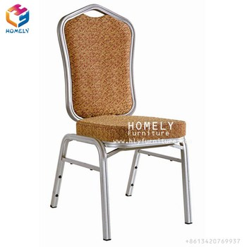 wholesale price steel luxury hotel stackable dining chair used banquet chairs
