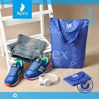 Blue Convenient Recycle Bags Folding Shopping Bag