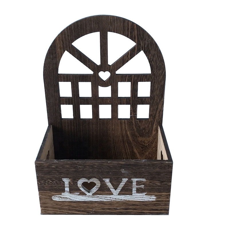 New style Wooden home decoration box flower pot storage box