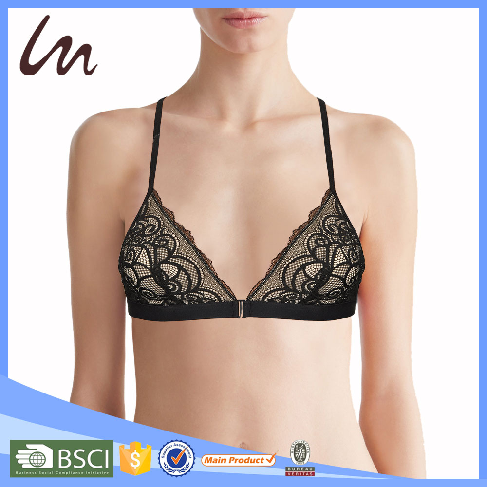 Custom High Quality Pictures of Girls Without Bra Underwear Woman Longline Bralette Ladies Bra Size 32