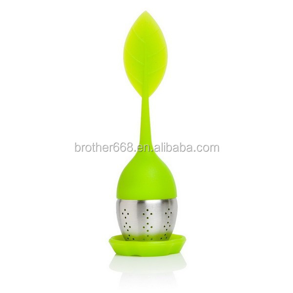 New design silicone tea straine/silicone tea infuser from factory