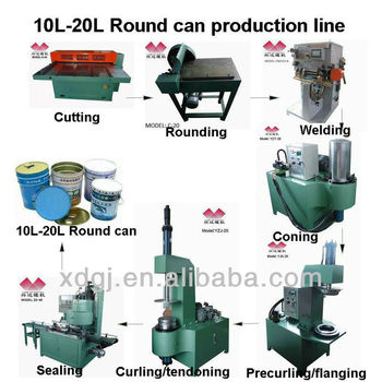 20l round paint/oil tin can making line