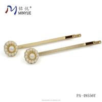 zinc alloy material type mini pearl hair clips