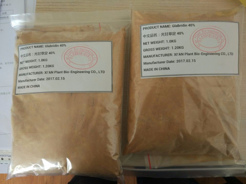 GMP factory Skin Whitening 40% Licorice Extract Glabridin 90% Tested by HPLC