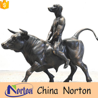bronze dog and bull statue large animal molds for sale NTBA-D116X