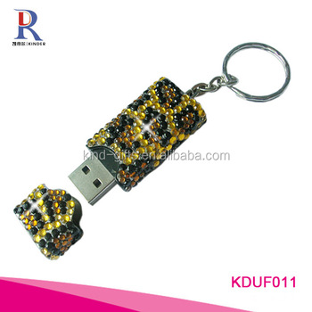 Rhinestone bling bling flash drive usb 3.0
