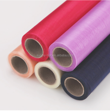 Cheap wholesale organza fabric roll for wedding event banquet