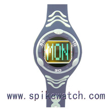 Factory Direct Sale Plastic Case PU Band Digital Sports Date Day Watch