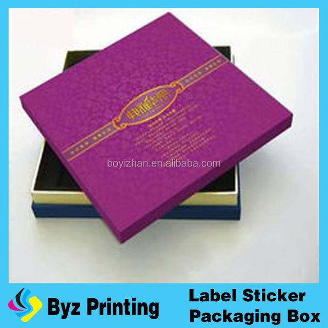 Full color printing paperboard material large size cake box with ribbon