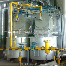 25T natural gas fixed type regenerative aluminum melting furnace