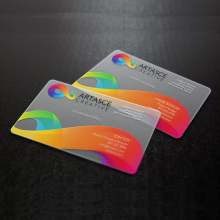 custom transparent plastic pvc frosted business <strong>card</strong>