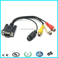 Hd multimedia to 3rca+vga monitor splitter cable