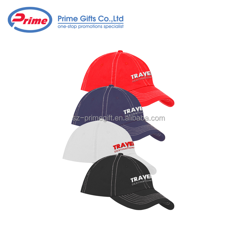 6 Panel Unconstructed Retro Fitted Promotional Logo Printed Custom Baseball Cap