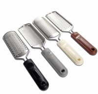 Professional Double Sided Plastic Pedicure Foot File Stainless Steel Foot Rasp Feet Dead Skin and Callus Removal