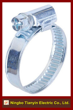 12mm bandwidth non perforated German type hose clamp