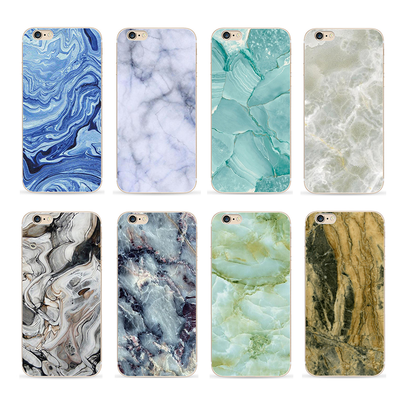 Ultra slim marble design uv printed pc phone case for iPhone 6 plus