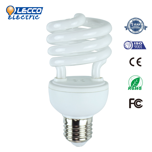 Most Popular T2 Half spiral 20W high quality led energy saving lamp color