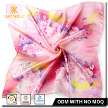 Floral Print High Quality Excellent Silk Scarf Bound