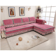 Luxury fancy lace plush sofa covers and cushions