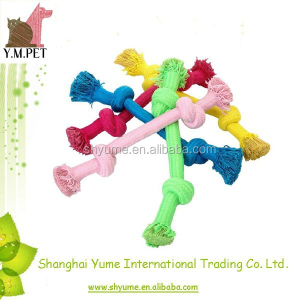 Knot Rope Dog Chew Toy Eco-friendly Rope Bone Toys