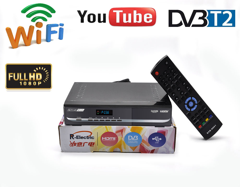 Digital terrestrial tv decoder dvb t2 antenna powervu autoroll satellite receiver