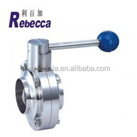 Sanitary Stainless Steel Butterfly Valve Food