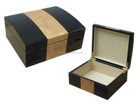 Luxury Ebony+Ash Veneer Wooden Perfume Packaging Box, Perfume Storage Packaging Boxes
